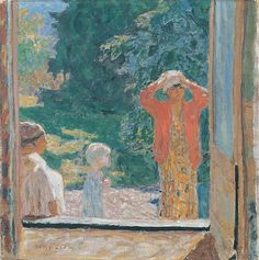 In Front of the Window at Le Grand-Lemps, 1923 Pierre Bonnard
