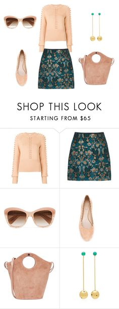 """""""Untitled #308"""" by monicazelin on Polyvore featuring Chloé, Oliver Peoples, Elizabeth and James and Paula Mendoza"""