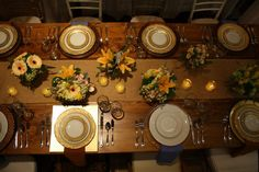 gold plates are lovely-mccarthy tents & events