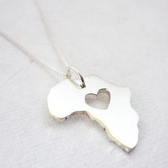 We Heart This - Africa Heart Necklace Precious Jesus, My Precious, Metal Clay Jewelry, Silver Jewelry, Try Not To Smile, Jewelry Accessories, Fashion Accessories, Quartz Ring, Best Gifts