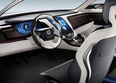 Futuristic Dashboard, 2011 Volvo Universe Concept - Steering Wheel. Futuristic Car Interior
