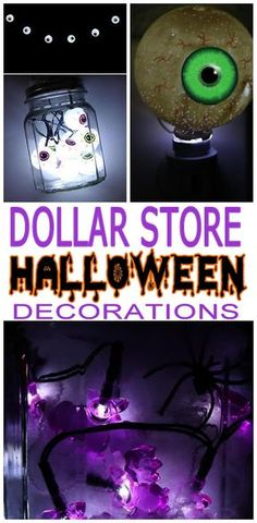 Amazing Dollar Tree hacks for the BEST Halloween decor ideas. Spooky, scary, creepy and fun decorations for Halloween. Home decor for indoor or outdoor and great for Halloween parties. Dollar Tree Halloween Decor, Cheap Halloween Decorations, Dollar Store Halloween, Halloween Party Decor, Vintage Halloween, Halloween Crafts, Halloween Ideas, Halloween Stuff, Halloween Designs