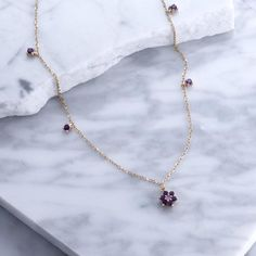 Amethyst Necklace | Sterling Silver necklace | Jewelry | Pink Sapphire Necklace | Handmade Jewellery @minetteofficial