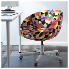 IKEA Skruvsta Swivel chair ($119) | Add a little excitement to your office with this adjustable chair. If the pattern is too exciting for you, it also comes in white.