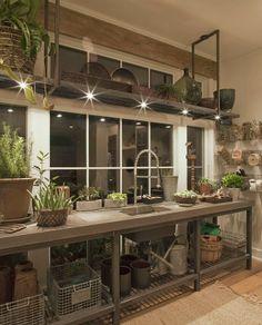 Me encantan las cocinas con grandes ventanales