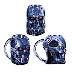 The T-800 is back and this time he is not causing mayhem, but instead is a vessel for your coffee. This Terminator T-800 Head 20 oz. Molded Mug looks awesome and it has been expertly crafted to look just like a head from one of the killer robots from the Terminator series. You will feel like