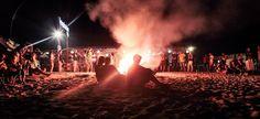 Bonfire on the beach in Vama Veche Romania, Nostalgia, Concert, Beach, The Beach, Concerts, Beaches
