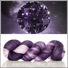 Black Diamond superwash merino silk Pearlescent Fingering yarn by expression fiber arts