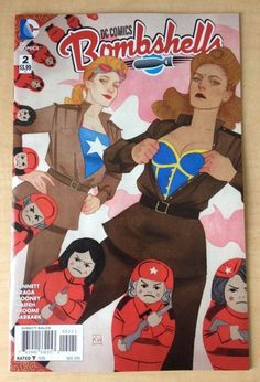 BOMBSHELLS issue #2 - Kevin Wada 1:25 variant DC Comics - Near Mint. SOLD!!!