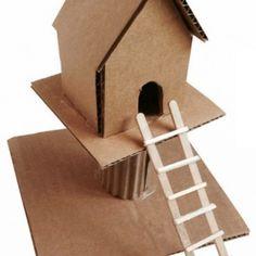 Cardboard Treehouse. Diagram available. #artprojectsforkids