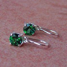 6mm Green Topaz Sterling Silver Earrings by cavaliercreations, $48.00