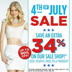 july 4th on sale