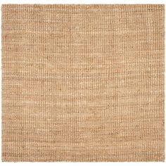 Natural Fiber Beige 10 ft. x 10 ft. Square Area Rug