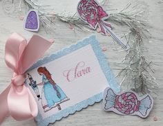 Clara party tag by Icing Designs