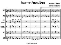 Shake the Papaya Down and other orff arrangements.                                                                                                                                                                                 More
