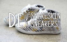 Mr. Kate | DIWhyNot: DIY Snakeskin Sneakers