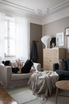 my scandinavian home: Get The Look: Gen's Swedish Sitting Room in Detail - le grand air / IKEA 2017 cabinet rattan Ikea Stockholm, Stockholm 2017, Living Room Goals, Living Room Decor, Living Room Designs, Living Spaces, Loft Interiors, Scandinavian Interior, Scandinavian Living