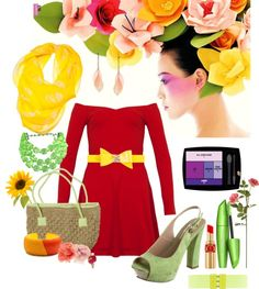 """Flowers"" by josi-d ❤ liked on Polyvore"