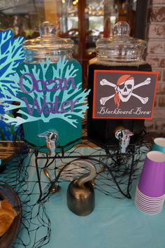 Pirates and Mermaids Birthday Party Ideas – 2019 - Birthday ideas Sibling Birthday Parties, Combined Birthday Parties, Joint Birthday Parties, Twins 1st Birthdays, Pirate Birthday, Mermaid Birthday, Birthday Fun, Birthday Party Themes, Birthday Ideas