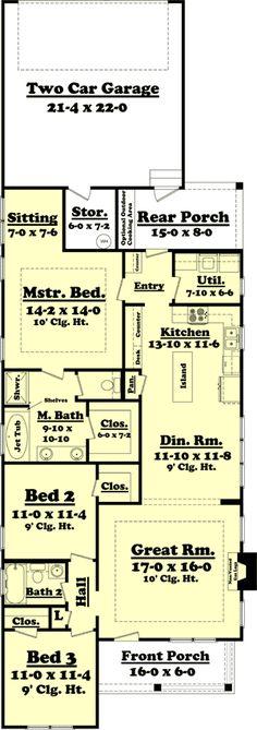 Plan 11763HZ: Cottage With Master Sitting Room