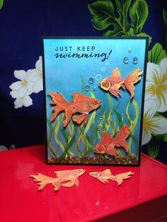 Featuring Hero Arts' Color Layering Goldfish SKU 573620 and Color Layering Goldfish Frame Cuts SKU