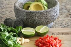 Prep time: 5 minutes Total time: 10 minutes Serves 4-6 servings Ingredients: 3 ripe avocados 2 Tbsp red onion, finely diced 1 roma tomato, diced Juice of half of a lime 3 garlic cloves (finely minced) ½ tsp seas salt or more to taste 1 ½ tsp cilantro, finely chopped Directions: Cut the avocado length …