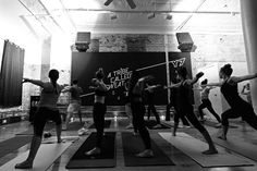 """Y7 Yoga Brooklyn, NY Whether you start each day with sun salutations or you're not sure of the difference between downward dog and cat-cow, you can't deny that """"beat bumping, sweat dripping, candlelit yoga"""" sounds pretty freaking awesome. #fitness #exercise #innovative"""