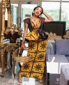 presents current fashion trends of 30 latest ankara skirt and blouse styles for Ladies! To get the best out of African fashion styles, you need p. Ankara Skirt And Blouse, Ankara Dress Styles, Trendy Ankara Styles, African Print Dresses, African Print Fashion, Africa Fashion, Blouse Styles, African Dress, Ankara Gowns