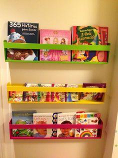 Dicas de organização para quarto de criança – Organização dos livros