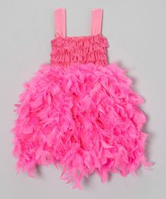 Take a look at this Pink Feather Dress - Infant, Toddler & Girls on zulily today!