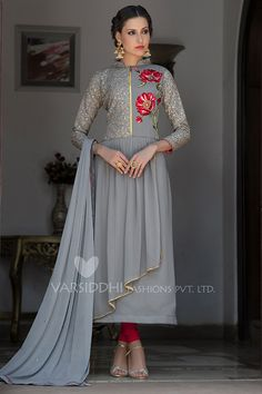 GreyColor Georgette Fabric Anarkali Suit  Note :  Please select WITH STITCHING option to do tailor fitting for this dress. We will send you measurements form on your registered email once you place the order.  Slight variation in color, fabric & work is possible. Model images are only representative.  The Shades may […]