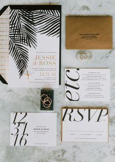 black modern letter invitation