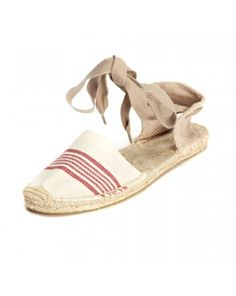 Sandal - Natural Red Closed Espadrilles for Women from Soludos - Soludos Espadrilles