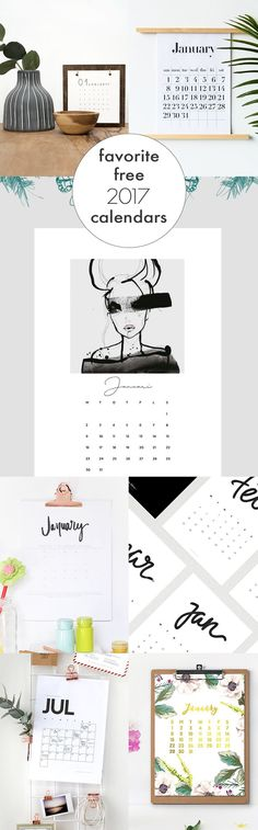 Still trying to find the perfect calendar? Try one of these free 2017 calendar printables from my favorite bloggers. There's something for everyone!