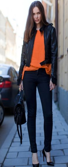 laranja com preto