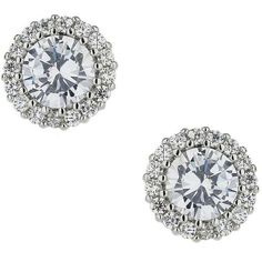 Miss Selfridge Cubic Zirconia Circle Studs ($10) ❤ liked on Polyvore featuring jewelry, earrings, silver color, cz earrings, cubic zirconia jewelry, sparkle jewelry, cz stud earrings and cubic zirconia stud earrings