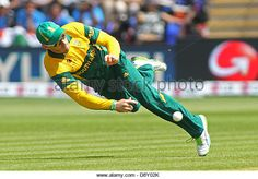Cardiff, Wales. 6th June 2013. South Africa's Faf du Plessis fielding during the ICC Champions Trophy international cricket match between India and South Africa at Cardiff Wales Stadium on June 06, 2013 in Cardiff, Wales. (Photo by Mitchell Gunn/ESPA/Alamy Live News) - Stock Image