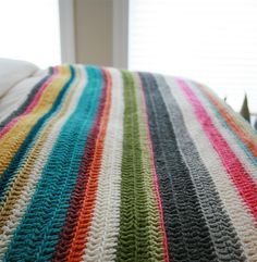 Great colors for a blanket... sigh, but blankets take so long to crochet!  humph.
