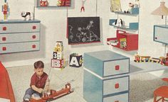 Great ideas for vintage style children's rooms!