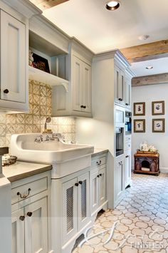 <3this dream utility room ~tile, floors and backsplash from ADR make the space feel so special...