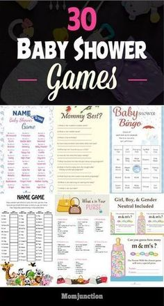 30 Fun And Festive Baby Shower Games You Would Enjoy #baby #babyshower