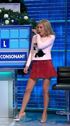 Rachel Annabelle Riley (born 11 January 1986) is an English television presenter who currently co-presents the Channel 4 daytime puzzle show Countdown and its comedy spin-off 8 Out of 10 Cats Does Countdown. A mathematics graduate, her television debut came when she joined Countdown at age 22.