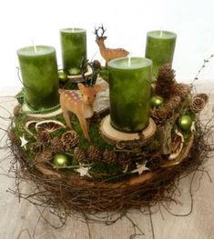 Advent wreath - unique products to buy online with DaWanda - Weihnachten - Noel Recycled Christmas Decorations, Centerpiece Christmas, Diy Christmas Presents, Homemade Christmas Gifts, Simple Christmas, Christmas Diy, Umbrella Wreath, Pom Pom Wreath, Advent Wreath