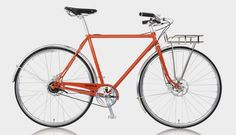 American made Porteur-style bike by Shinola, out of Detroit. $2950.00 Dark Orange