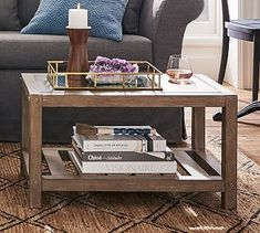 A zinc top and mortise-and-tenon detailing dress up the classic slatted design of the Brooklyn Rectangular Coffee Table. The weathered finish looks chic with any decor style. HOW IT'S CONSTRUCTED Coffee Table Pottery Barn, Reclaimed Wood Coffee Table, Small Coffee Table, Rustic Coffee Tables, Coffe Table, Wood Furniture Store, Apartment Furniture, Ikea Furniture, Outdoor Furniture
