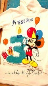 Μπλουζάκι ζωγραφισμενο στο χέρι με ανεξίτηλα χρώματα για...