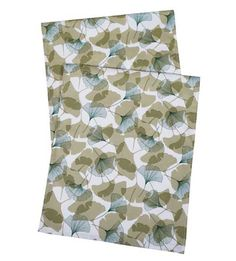 """Table Runners Gingko 90 Inch comes in various sizes. 1/4"""" hem. Cotton  from $34.99"""