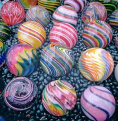 ~ Kris Parke Collection ~ Glass Marbles, Glass Beads, Marbles Images, Glass Pumpkins, Stained Glass Designs, Marble Art, Glass Paperweights, Glass Ornaments, Hand Blown Glass
