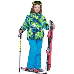 Phibee Boys Waterproof Ski Suit  Very Thick Warm Snow Jacket and Pants Windproof Waterproof Breathable Kids 8010 -30 Degree