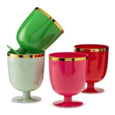 Oh Joy! Plastic Goblets - perfect for a festive holiday party